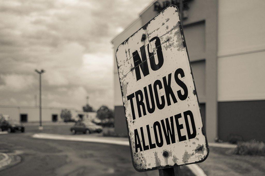 no trucks allowed