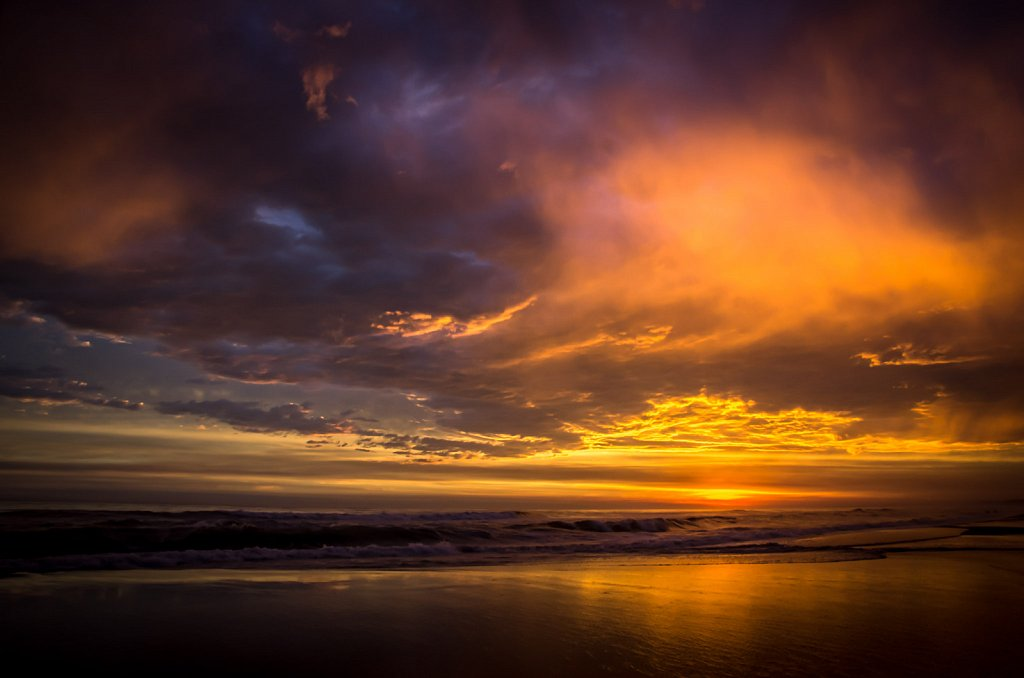 sunset`s glow